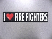 Plaque I LOVE FIRE FIGHTERS