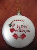 Christmas White Ornament