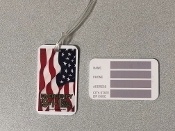 Luggage Identification Tag Flag Imprint with Emergency 911 Logo