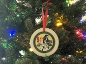 Ceramic 9-1-1 Logo Ornament