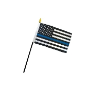 4 X 6 BLUE LINE STICK FLAG