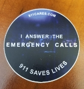 """I ANSWER THE EMERGENCY CALL"" STICKER"